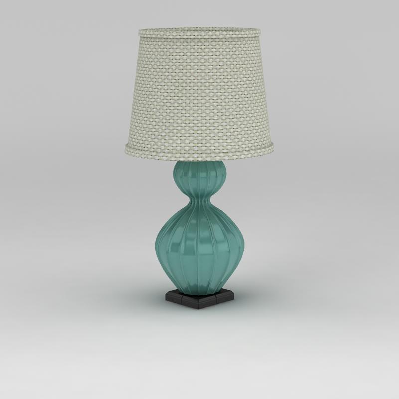 地中海风格台灯3D模型下载-图3