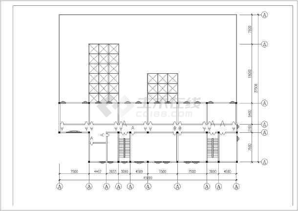 本图纸为:一整层餐厅室内装修cad平立面施工图大样图,其中包含平面图