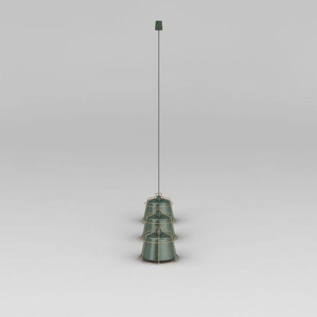 现代工业风小吊灯3D模型下载-图2