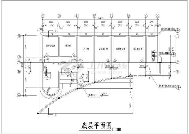 一套小学教学楼建筑cad设计施工图
