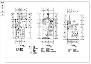 三层铺设台花园别墅设计装修cad平立地面v地面cad填充带露比例剖面中图片