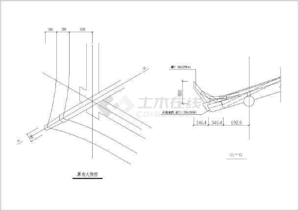 某地区木结构六角连亭施工宋式做法cad设计图纸