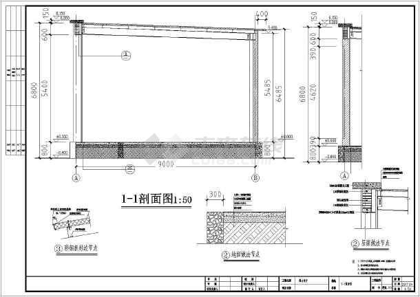 某村庄钢结构舞台设计图