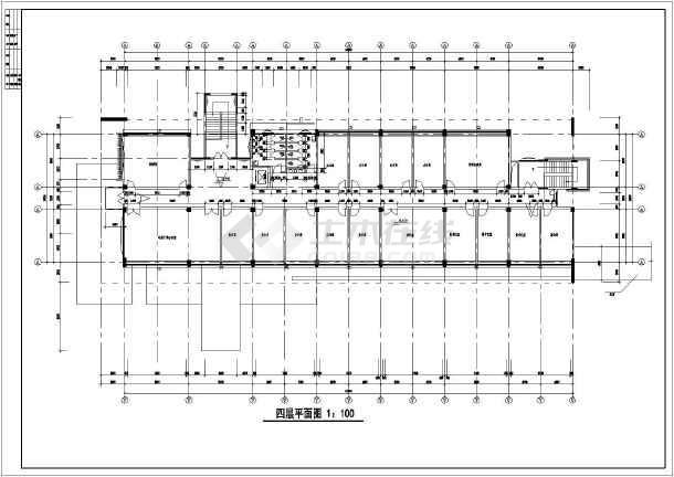 某地四层行政办公楼设计建筑施工图