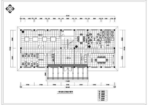 小型办公室室内装修cadv电气电气图纸线路图_博物馆美秀图纸图片