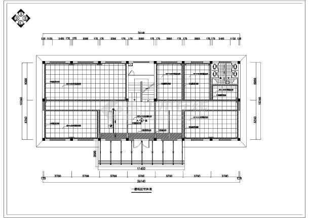 小型办公室室内装修cad设计图纸电气线路图_施工步骤图纸暖通的图片