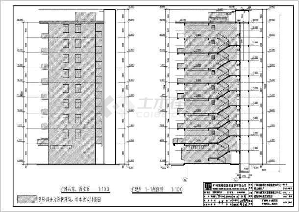 原有建筑加装电梯结构图