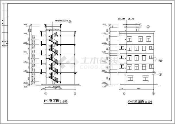 某五层私人住宅房屋建筑设计规划图-图1
