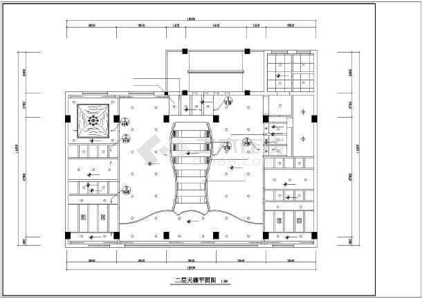 茶楼室内装修设计及绿化cad方案施工图