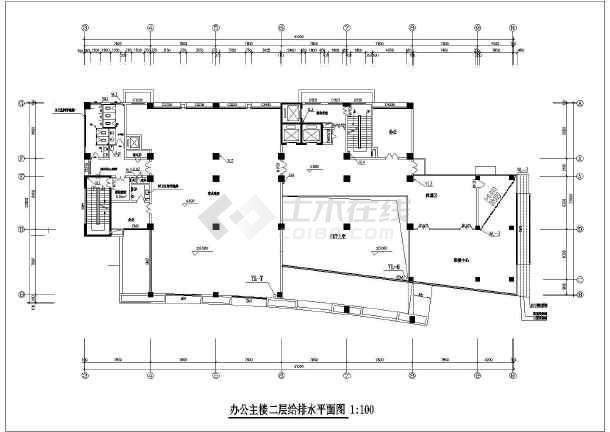某十五层办公楼给排水设计施工图纸-图3