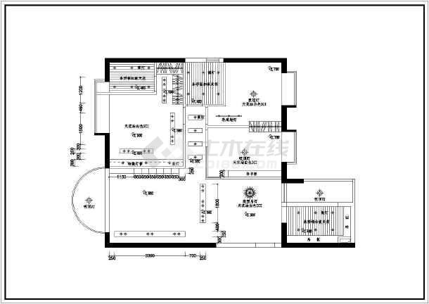 四室150平米住宅户型室内精装修cad施工图
