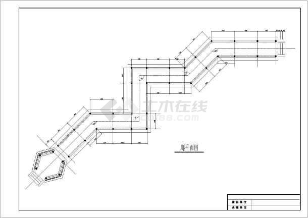 六角亭与廊建筑详细施工cad图纸