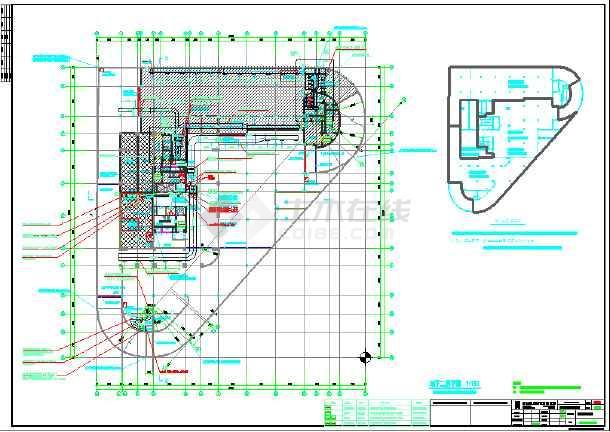 大厦高层空调水管给排水平面施工图-图2