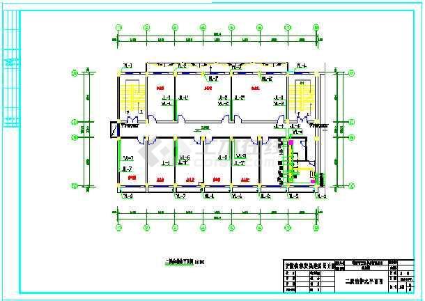 木业有限公司四层办公楼CAD给排水设计图-图1