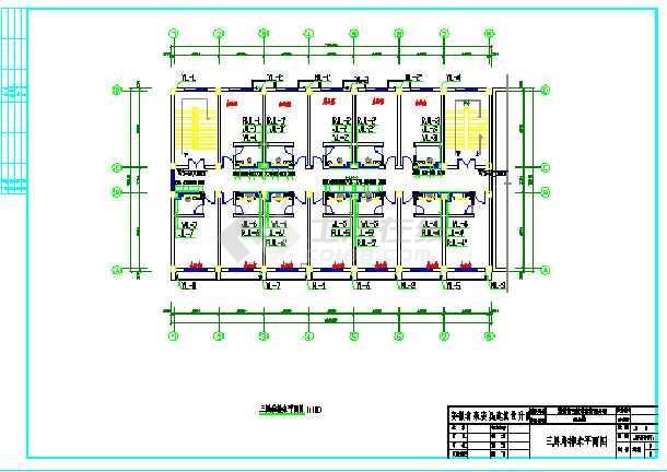 木业有限公司四层办公楼CAD给排水设计图-图2