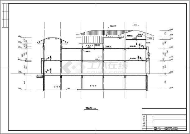 景区混凝土框架结构配筋钢结构设计图