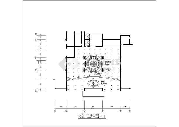某西餐厅室内装修cad平面布置施工图