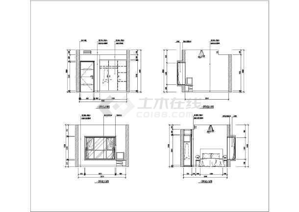 某套房室内装修套房cad平立面设计施工图