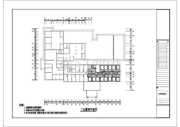 某多层高档宾馆电气cad平面设计图