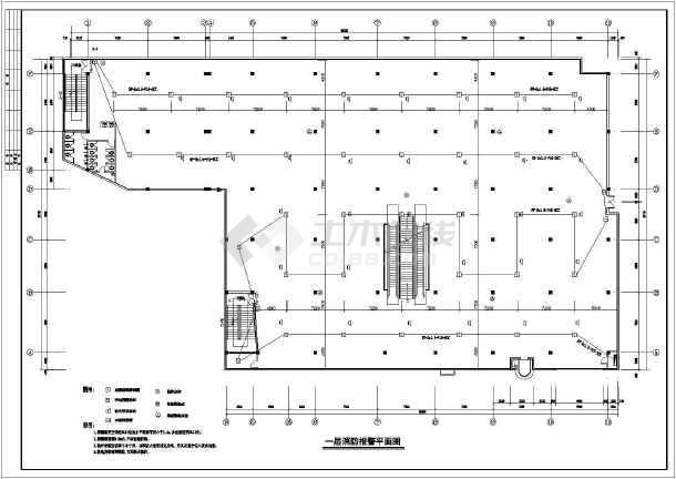 某电气认识超市消防设计cad全套行业it装饰的图纸设计ui图片