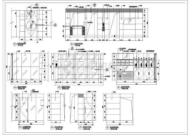 本图纸为:某美容院装修cad平面布置施工图,其中包含平面图等.