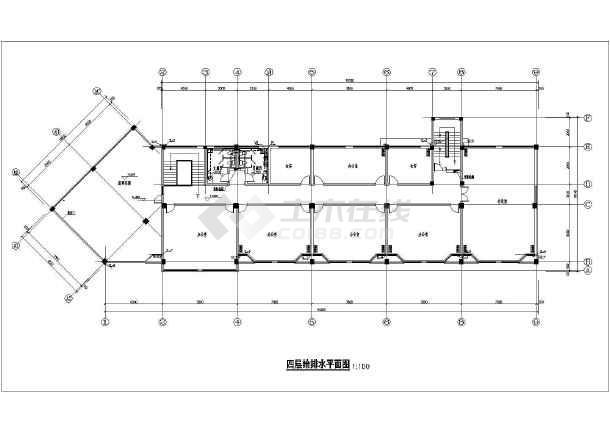 某市环卫所办公楼给排水cad施工图-图2