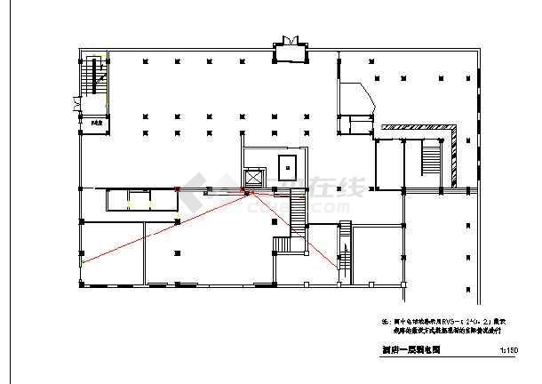 某地大酒店建筑电气装修设计施工图图片