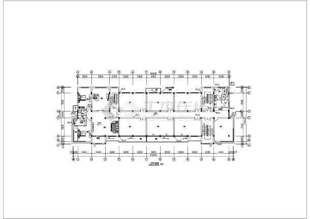 某公司六层办公楼给水排水设计cad施工图-图1