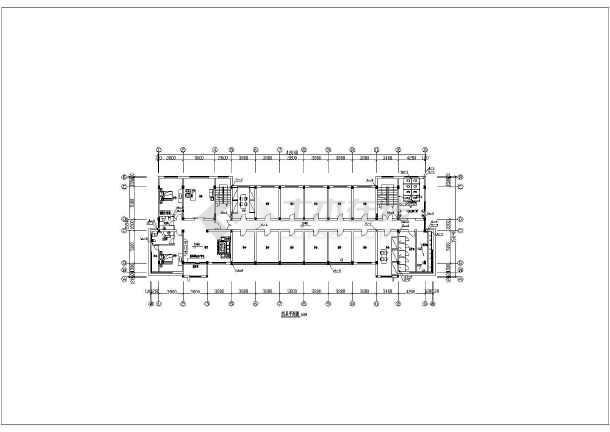 某公司六层办公楼给水排水设计cad施工图-图2