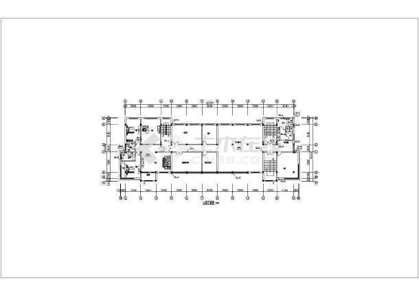 某公司六层办公楼给水排水设计cad施工图-图3