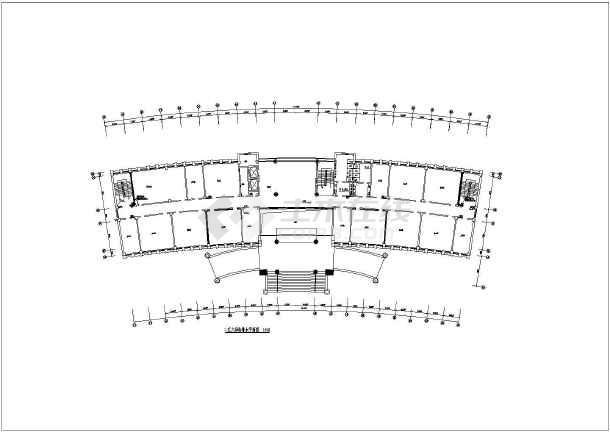 某办公楼给排水设计cad施工方案图-图1
