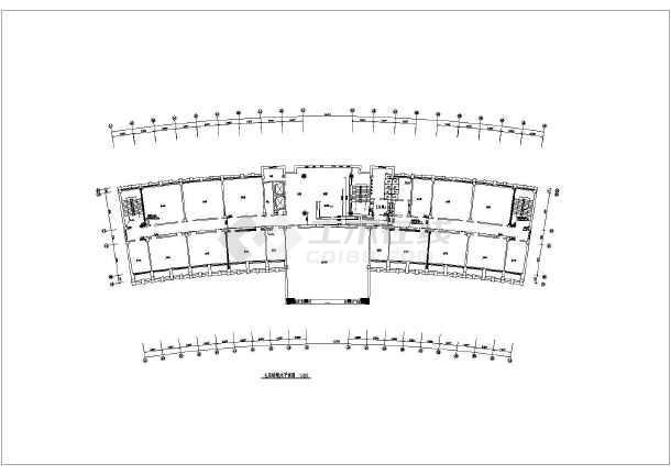 某办公楼给排水设计cad施工方案图-图2