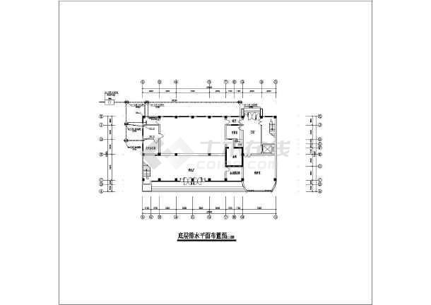 某办公大楼给排水及消防设计cad施工图-图1