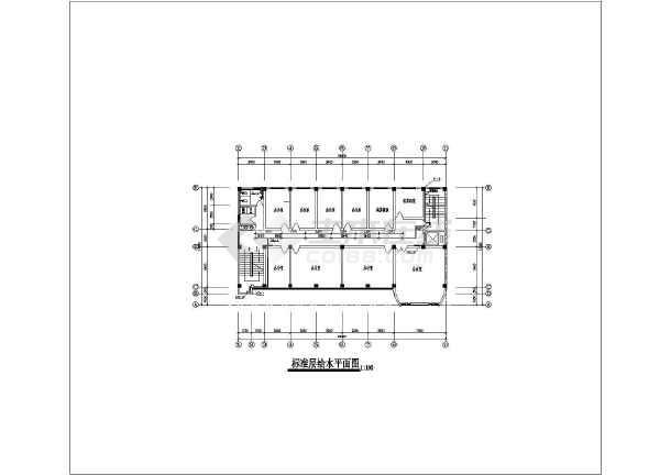 某办公大楼给排水及消防设计cad施工图-图2