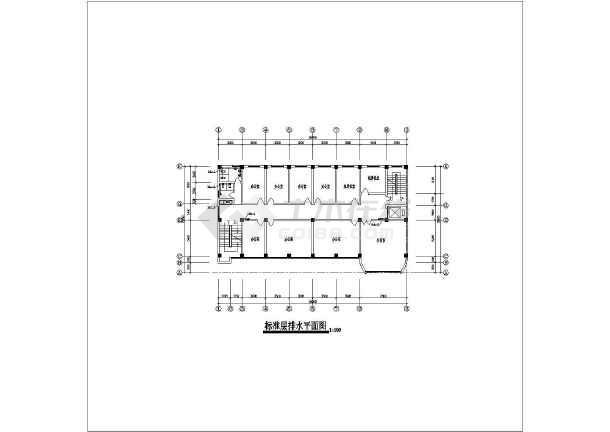 某办公大楼给排水及消防设计cad施工图-图3