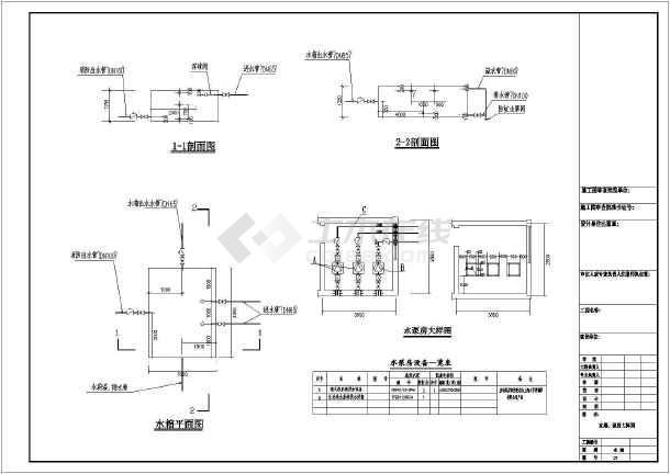 六层办公楼给水排水设计cad施工图-图1
