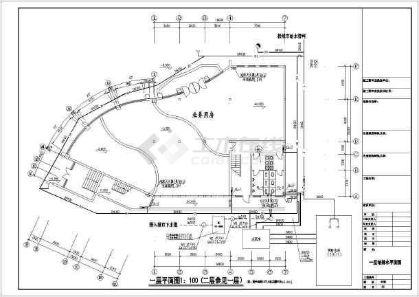 六层办公楼给水排水设计cad施工图-图3