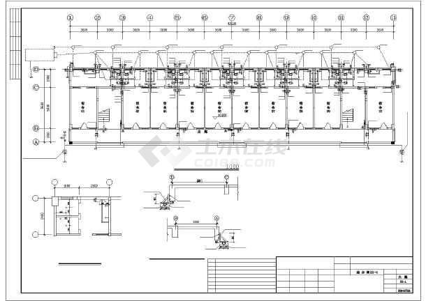 某多层综合楼全套给排水cad设计施工图-图2