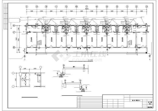 某多层综合楼全套给排水cad设计施工图-图3