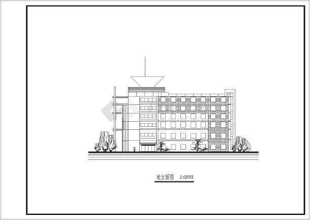 某六层办公楼设计图纸(含总平面图)