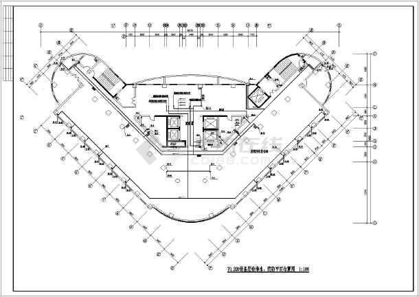 高层医院疗楼给排水建筑施工设计图-图2