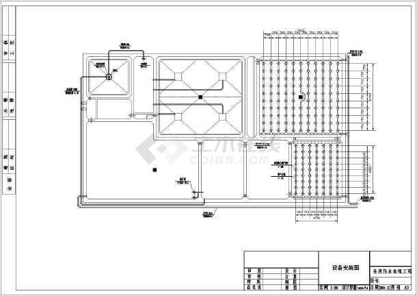 某1000m3_d生活污水治理设计工程图-图2