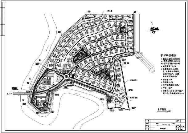 某景观小区别墅绿化规划cad平面设计施工图简单ai海报设计教程图片