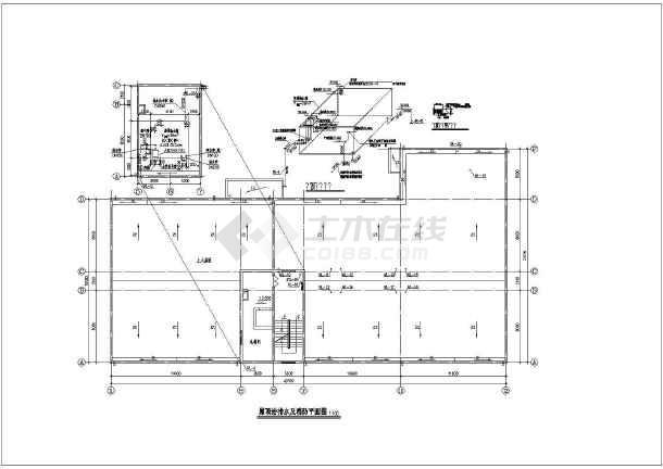五层浴室建筑全套给排水cad设计图纸