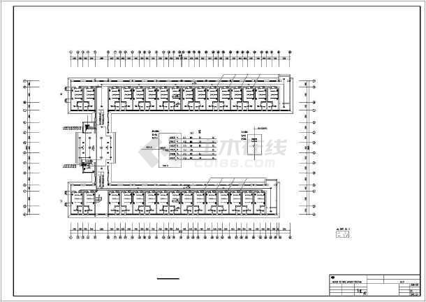 大学生学院公寓楼给排水施工设计图-图1