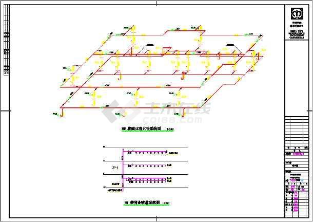 某高层单元式住宅楼给排水设计施工cad图-图3