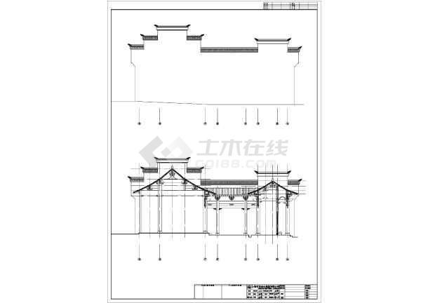 某地古建筑祠堂建筑设计施工图-图2
