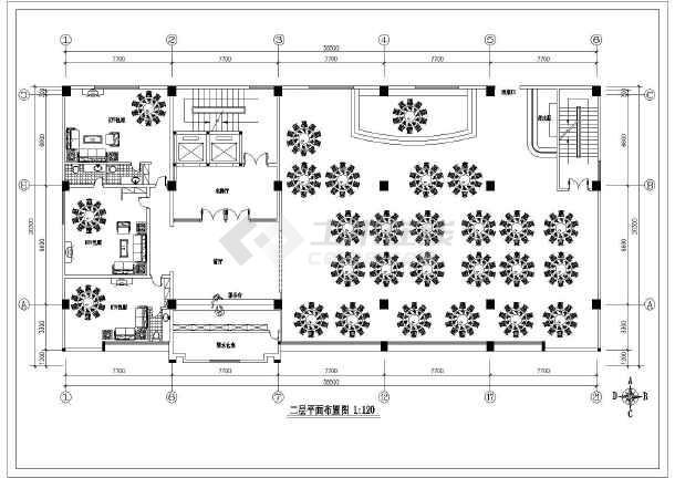 某商务酒店全套室内装修cad设计施工图-图1