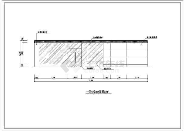 某商务酒店全套室内装修cad设计施工图-图2