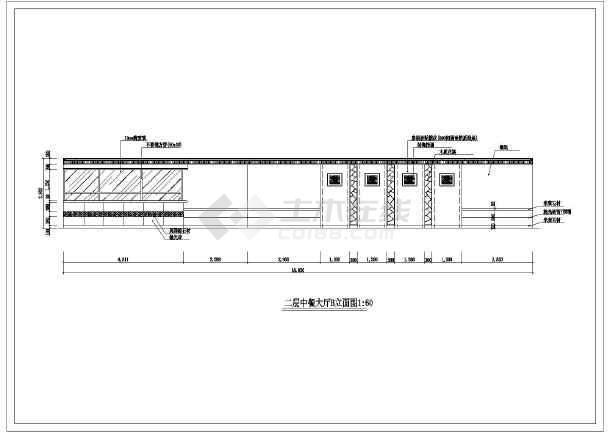 某商务酒店全套室内装修cad设计施工图-图3